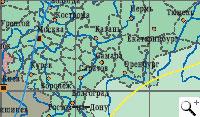 Обслуживаемая зона Радуга. Спутник Yamal-200